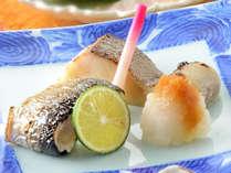 秋刀魚糠漬けと銀ダラ西京焼