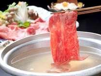 【上州牛しゃぶしゃぶ】やわらか~く口の中で旨みがとけていく、絶品のお肉です。