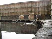源泉かけ流し岩風呂