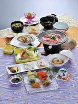 岡山産の食材にこだわった夕食(一例)