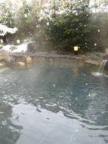 ☆粉雪が静々と…あったか野天風呂☆.。.:*・゜