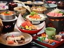 【夕食】蘭亭名物「釜飯」付☆彡冬・季節の和食膳(一例。変更になる場合もございます)