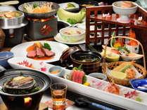 極上プランの和食会席膳。(写真は一例)
