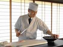 心を込めたお料理をご提供いたします。総料理長 相田賢治