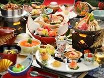 【ご夕食】冬/当館一番人気の曲水膳一例(器や食材は変更になる場合がございます)