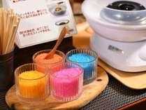 【朝食】お子様大興奮!レインボーのコットンキャンディー(一例)