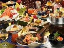 当館一番人気の曲水膳・秋(器やお料理は一例です)