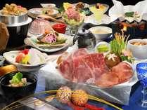 【ご夕食】海鮮&花咲くしゃぶしゃぶ会席一例(器や食材は変更になる場合がございます)