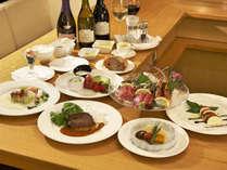 洋の中にも和のテイストを取り入れた和洋創作フルコースディナーをご満喫ください。