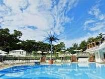 夏季限定GARDEN POOLは、ご宿泊のお客さまは 滞在中ご利用無料。