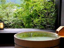【貸切風呂 瑠璃~RURI~】下呂の自然を感じる源泉かけ流し露天風呂。