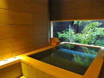 """【貸切風呂 琥珀~KOHAKU~】小川屋名物""""畳風呂""""を貸切風呂でも。"""