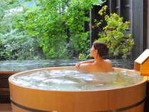 【ゆらぎ貸切風呂】野趣あふれる貸切風呂。