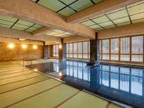 【大浴場~本館~】心がほどける百帖空間の畳風呂処、ゆったりくつろげる温泉で至福の時をどうぞ♪