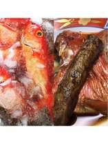 新鮮な金目鯛を水氷で鮮度を保ったまま煮つけで提供します