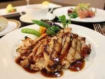 磐井地鶏の網焼き/夕食付プラン