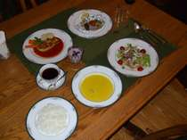 欧風家庭料理のデイナー