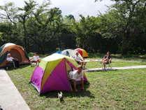 ゲストハウス横のキャンプサイト