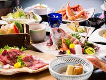 【ワインビーフすき焼き!小鯛姿造り!にズワイ蟹食べ放題も♪】お肉から海の幸まで美味満載☆春の漁火膳