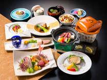 【グレードアップ会席】鮑&ワインビーフを陶板焼きで贅沢に味わう。彩り鮮やかな小鯛の姿造りも〇漁火膳〇