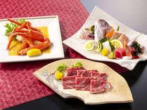 ~冬の漁火膳2018~甲州ワインビーフをすき焼きで贅沢に味わう。更に彩り鮮やかな小鯛の姿造りも。