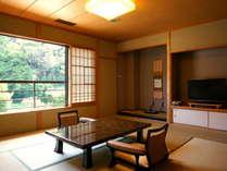 【半露天付き和室】落ち着いた雰囲気の純和風のお部屋。