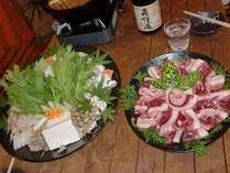 【貸別荘でゆっくり過ごす☆】設備充実で初心者も安心♪夕食は地元の豪華なお肉を堪能!猪の牡丹鍋プラン☆