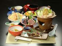 【食事】夕食一例。信州の安心安全な食材をおいしく。身も心もあたたまります。