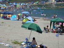 当館から歩いて300mの海水浴場。 魚と泳ぐ海水浴場開設(7月19日~8月17日。)