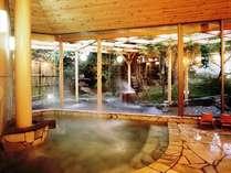 大浴場【徳足姫(とこたりひめ)の湯】広々とした湯船は、手足を伸ばしてくつろぐのに最適