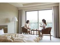 富士山を眺めることのできる客室