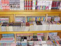 約1000冊の漫画コーナー新設。リラックスタイムにご利用ください。