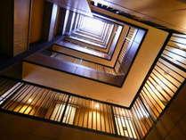 ■客室フロア吹き抜け廊下