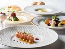 北海道×信州フェア~毛ガニや帆立貝などの海の幸と信州産きのこやアメーラトマトを使用した華やかコース♪