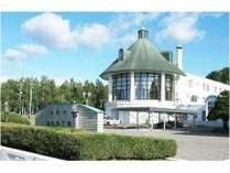 総合体育館に隣接した自然に調和する緑を基調とした宿泊施設です。
