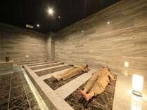 大浴場併設の岩盤浴で女子トーク