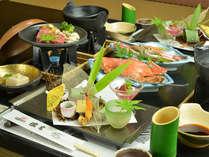 お夕食一例(月替わり懐石)/その時期、その日の旬の食材を使い、工夫を凝らしたお料理をお楽しみ下さい。