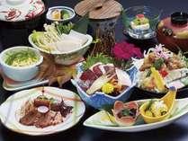 夕食は太地のくじらをコースで♪&新鮮な海の幸のこだわり和食とくじらのミニコース☆1泊2食付