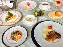 【夕食一例】本格的なフランス料理に舌鼓♪