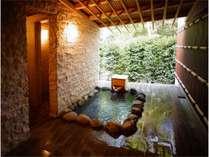 客室露天風呂♪特別なプライベート空間でお寛ぎ下さい。