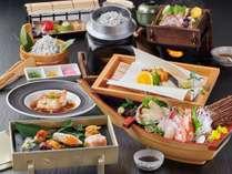 [夕食]伊豆の海の幸をふんだんに使った料理長自慢の「伊豆海鮮会席」