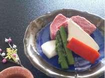 山形牛フィレステーキ陶板/一例