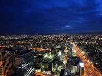 客室からの大阪市街夜景