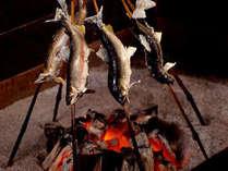 「いろり和食膳」(一部)岩魚の塩焼き。頭から食べられます!豪快にどうぞ