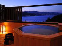 網代湾を独り占め、絶景の露天風呂から熱海の夜景も望みます!