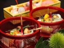 食欲の秋、懐石料理を贅沢に専用の個室お食事処で・・・!※料理一例