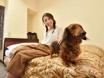 かわいいペットと一緒にお泊り♪
