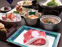 ☆滋賀美味会席料理コース。清流が運ぶ豊かな水が育む地元素材を楽しむコースです。