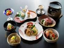 *【美食会席】量は程よく、旬の食材の質を重視。来館前に食べて来られた方にもオススメです。