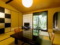 ★庭を臨む客室(例)★ご夫婦やご家族にオススメです。静かな祇園の中心地で、プライベート満喫♪